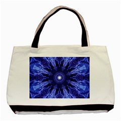 Tech Neon And Glow Backgrounds Psychedelic Art Basic Tote Bag