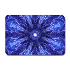 Tech Neon And Glow Backgrounds Psychedelic Art Small Doormat