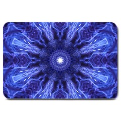 Tech Neon And Glow Backgrounds Psychedelic Art Large Doormat