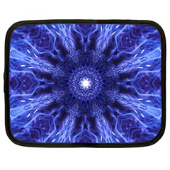 Tech Neon And Glow Backgrounds Psychedelic Art Netbook Case (large)