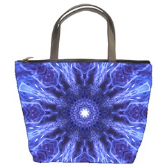 Tech Neon And Glow Backgrounds Psychedelic Art Bucket Bags