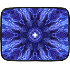 Tech Neon And Glow Backgrounds Psychedelic Art Double Sided Fleece Blanket (mini)
