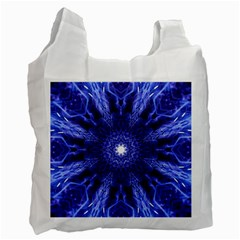 Tech Neon And Glow Backgrounds Psychedelic Art Recycle Bag (one Side)