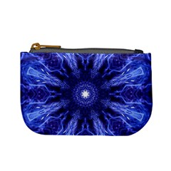 Tech Neon And Glow Backgrounds Psychedelic Art Mini Coin Purses
