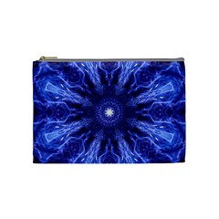 Tech Neon And Glow Backgrounds Psychedelic Art Cosmetic Bag (medium)