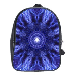 Tech Neon And Glow Backgrounds Psychedelic Art School Bags(large)