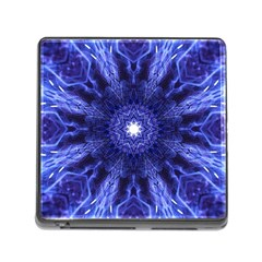 Tech Neon And Glow Backgrounds Psychedelic Art Memory Card Reader (square)