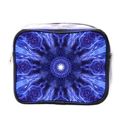 Tech Neon And Glow Backgrounds Psychedelic Art Mini Toiletries Bags