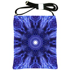 Tech Neon And Glow Backgrounds Psychedelic Art Shoulder Sling Bags