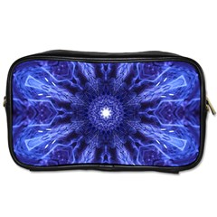 Tech Neon And Glow Backgrounds Psychedelic Art Toiletries Bags 2 Side