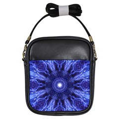 Tech Neon And Glow Backgrounds Psychedelic Art Girls Sling Bags
