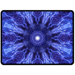 Tech Neon And Glow Backgrounds Psychedelic Art Fleece Blanket (large)