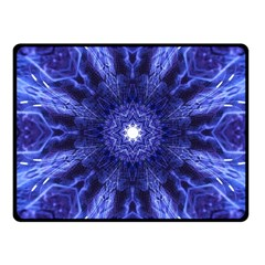 Tech Neon And Glow Backgrounds Psychedelic Art Fleece Blanket (Small)