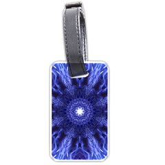 Tech Neon And Glow Backgrounds Psychedelic Art Luggage Tags (one Side)