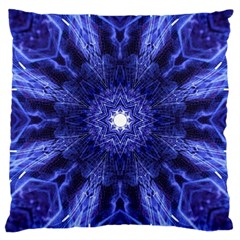 Tech Neon And Glow Backgrounds Psychedelic Art Large Cushion Case (one Side)