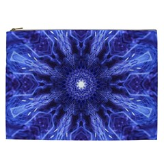 Tech Neon And Glow Backgrounds Psychedelic Art Cosmetic Bag (xxl)