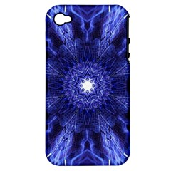 Tech Neon And Glow Backgrounds Psychedelic Art Apple Iphone 4/4s Hardshell Case (pc+silicone)