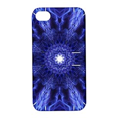 Tech Neon And Glow Backgrounds Psychedelic Art Apple Iphone 4/4s Hardshell Case With Stand
