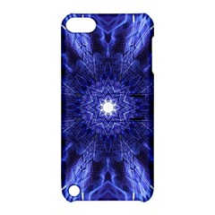 Tech Neon And Glow Backgrounds Psychedelic Art Apple Ipod Touch 5 Hardshell Case With Stand