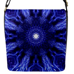 Tech Neon And Glow Backgrounds Psychedelic Art Flap Messenger Bag (s)