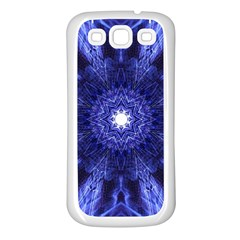 Tech Neon And Glow Backgrounds Psychedelic Art Samsung Galaxy S3 Back Case (white)
