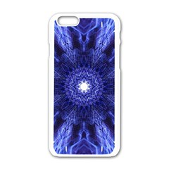 Tech Neon And Glow Backgrounds Psychedelic Art Apple Iphone 6/6s White Enamel Case