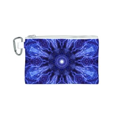 Tech Neon And Glow Backgrounds Psychedelic Art Canvas Cosmetic Bag (s)