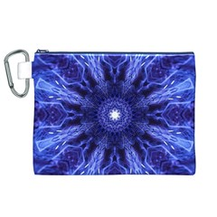 Tech Neon And Glow Backgrounds Psychedelic Art Canvas Cosmetic Bag (xl)