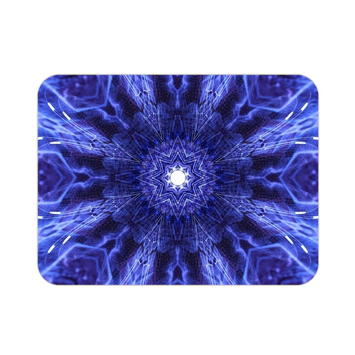 Tech Neon And Glow Backgrounds Psychedelic Art Double Sided Flano Blanket (Mini)