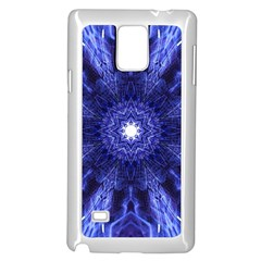 Tech Neon And Glow Backgrounds Psychedelic Art Samsung Galaxy Note 4 Case (white)