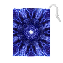 Tech Neon And Glow Backgrounds Psychedelic Art Drawstring Pouches (extra Large)