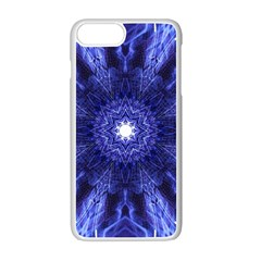 Tech Neon And Glow Backgrounds Psychedelic Art Apple Iphone 7 Plus White Seamless Case