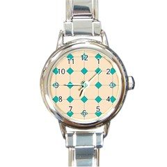 Tile Pattern Wallpaper Background Round Italian Charm Watch