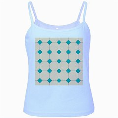 Tile Pattern Wallpaper Background Baby Blue Spaghetti Tank
