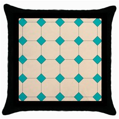 Tile Pattern Wallpaper Background Throw Pillow Case (black)