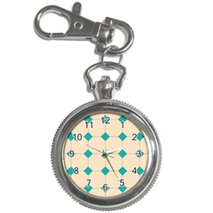 Tile Pattern Wallpaper Background Key Chain Watches