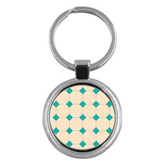 Tile Pattern Wallpaper Background Key Chains (round)