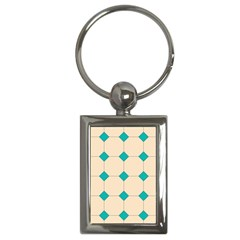 Tile Pattern Wallpaper Background Key Chains (rectangle)