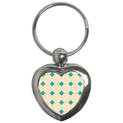Tile Pattern Wallpaper Background Key Chains (Heart)