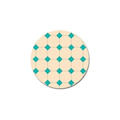 Tile Pattern Wallpaper Background Golf Ball Marker (4 Pack)