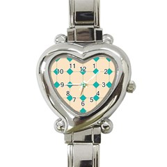 Tile Pattern Wallpaper Background Heart Italian Charm Watch