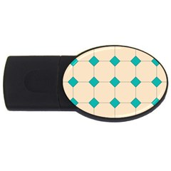 Tile Pattern Wallpaper Background Usb Flash Drive Oval (4 Gb)