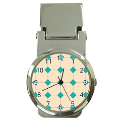 Tile Pattern Wallpaper Background Money Clip Watches