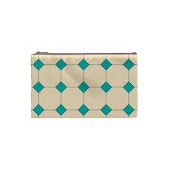 Tile Pattern Wallpaper Background Cosmetic Bag (Small)