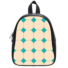 Tile Pattern Wallpaper Background School Bags (small)