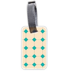 Tile Pattern Wallpaper Background Luggage Tags (one Side)