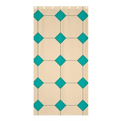 Tile Pattern Wallpaper Background Shower Curtain 36  X 72  (stall)