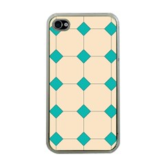 Tile Pattern Wallpaper Background Apple Iphone 4 Case (clear)