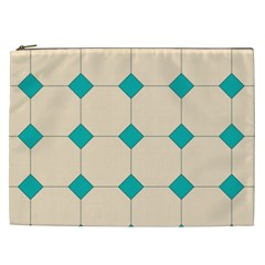 Tile Pattern Wallpaper Background Cosmetic Bag (xxl)