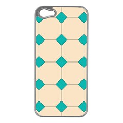 Tile Pattern Wallpaper Background Apple Iphone 5 Case (silver)
